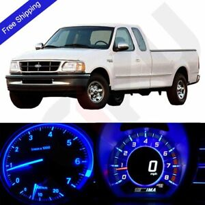 Blue Led Dash Cluster Instrument Panel Lighting Kit Fits 1999 2004 Ford F 150