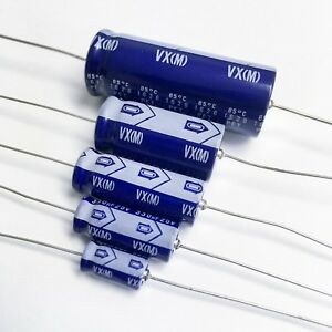 Nichicon Tvx Vx 100uf 350v 22mm Axial Electrolytic Capacitors Lots Of 1 To 4