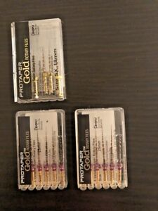 3 Packs Protaper Gold Rotary Files Sx 19mm S1 25mm Dentsply Tulsa Endo