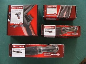 Craftsman 3 8 Air Impact Wrench Gun Air Ratchet Butterfly Impact Wrench 4 Pc