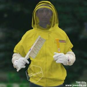 Adult L Yellow Beekeepers Beekeeping Bee Jacket Removable Fence Veil Gift Ideas