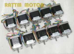 10pc Nema 17 Stepper Motor 12v For Cnc Reprap 3d Printer 78oz in 1 8a Dual Shaft