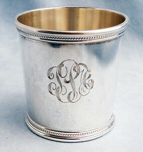 Vintage John F Kennedy Solid Sterling Silver Presidential Mint Julep Cup W Mono