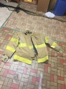 Firefighter Gear Turnout Jacket Coat Lion Apparel Janesville 50 32 Costume Or Us