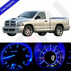 Blue Led Dash Cluster Instrument Climate Light Kit Fits 2002 2006 Dodge Ram 1500