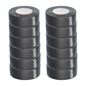 Black Duct Tape 2 X 60 Yards 9 Mil Utility Grade Packing Tapes 240 Rolls