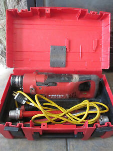 Hilti Ddec 1 Core Drill Drilling System With Case