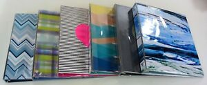 Lot Of 6 Divoga Binders 1 Rings Assorted Colors Stylish School office Supply