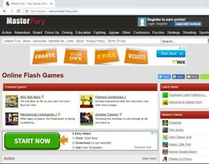 Gaming Arcade Flash Games Website For Sale Master Fury Master fury com
