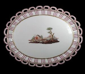 Antique Niderviller French Faience Reticulated Plate C 18th Century