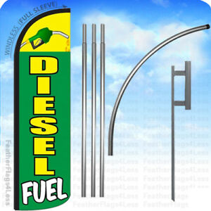 Diesel Fuel Windless Swooper Flag Kit Feather Banner Sign 15 Set Gq