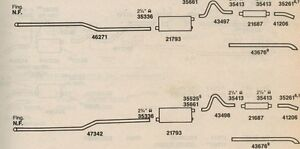 1973 Buick Riviera Dual Exhaust System Aluminized With Resonators
