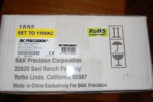 Bk Precision Power Supply Model 1692
