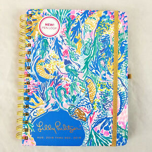 Lilly Pulitzer Multi color Mermaids Cove 2018 2019 17 Month Large Agenda Planner
