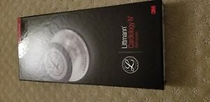 New 3m Littmann Cardiology Iv 4 Stethoscope all Black Color W Raindow Finish