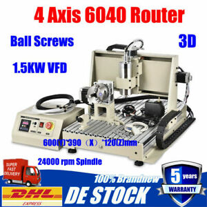 4 Axis Cnc Router 6040 Engraver Engraving Milling Drilling Machine Controller