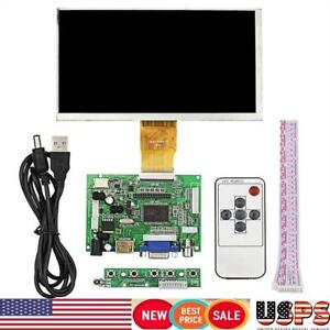 7 1024 600 High Resolution Lcd Display For Raspberry Pi hdmi vga driver Board