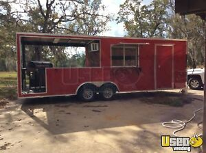 2018 8 5 X 24 Food Concession Trailer With Porch For Sale In Texas
