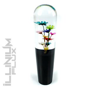 8 Inch Multicolor Flower Bouquet Clear And Black Drift Shift Knob 10x1 5 K02