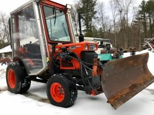Kubota B7100hst Diesel Hydrostatic 4x4 Compact Tractor Plow Heated Cab