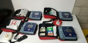 Lot 4pc Philips Heartstart Fr2 Aed Defibrillator Wi bat Carrying Case M3861a
