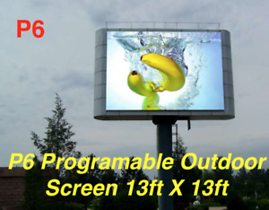 Commercial Outdoor Video Hd Billboard Sign P6 Full Color13ft X13ft