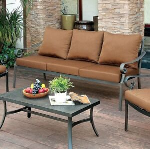 Fleur De Lis Living Clemence Patio Sofa With Cushions