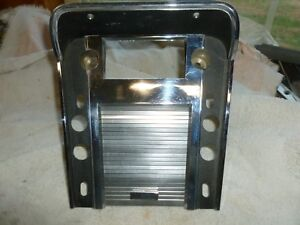 1967 Mustang Cougar Floor Console Radio Bezel Plate W Convenience Group 67 68