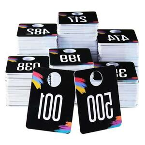 Plastic Consecutive Number Tags Normal reverse Reusable Hanger Cards 001 500