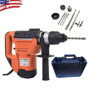 Variable Speed 1 1 2 Sds Electric Rotary Hammer Drill Concrete Chisel Bits Kit