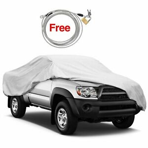 Outdoor Truck Pickup Car Cover Waterproof Weatherproof For Toyota Tundra Silver