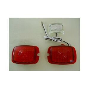 1937 1938 1940 1953 Chevy Red Led Stop Turn Tail Lights License Light