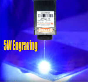 450nm 5w Focusable Blue Laser Module ttl carving burning W gift Goggles