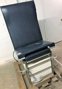 Sherwood Medical Exam Table Adjustable Flexible W stirrups Drawers Unit 3
