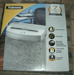 Fellowes T7cm Basket Included 7 Sheet Confetti Cut Brand New In Box See Pictures