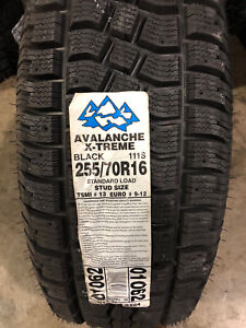 4 New 255 70 16 Hercules Avalanche X Treme Snow Tires
