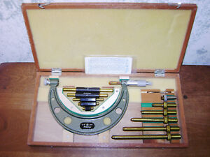 Mitutoyo 0 6 Inch Micrometer Set No 104 137 W Standards Lot1a