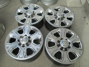 20 Dodge Ram 2500 3500 Chrome Silver Limited Oem Factory Oem Wheels Rims