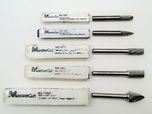 5 Pc Mastercut Assorted Rotary Carbide Burr Set Aircraft Tools