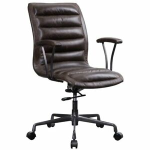 Acme Zooey Executive Office Chair In Chocolate Top Grain Leather