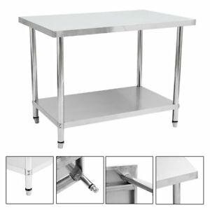 37 X 48 Stainless Steel Kitchen Work Table Commercial Kitchen Restaurant Gn