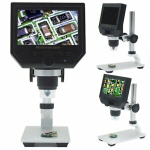 Digital 4 3inch Hd 3 6mp Lcd Display Microscope Continuous Magnifier Metal Stand