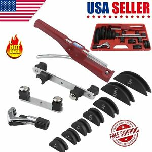 Hvac Refrigeration Ratchet Tube Bender Pipe Cutter Copper Aluminum Tubing Set