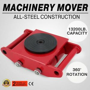 13200lb 6t Machinery Mover Roller Dolly Skate W 360 Swivel Top Plate Us New Jb
