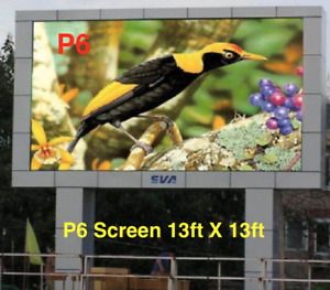 Led Programable Electronic Sign Billboard For Store Front P6 13ft X 13ft