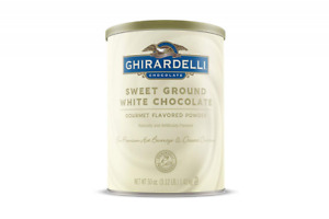 Ghirardelli Chocolate Sweet Ground White Flavor Beverage Mix 50 ounce Canister