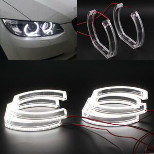 White Crystal Dtm Style Led Angel Eye Halo Rings Drl Kit For 06 11 Bmw E90 E92