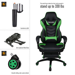 Executive Swivel Office Racing Gaming Chair Race Car Style Bucket Computer Seat