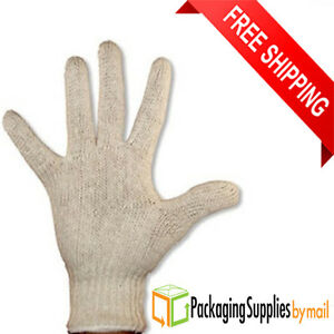 60 Pairs Poly cotton String Knit Industrial Work Gloves For Men s Size