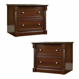 set Of 2 Lateral File Cabinet In Cherry